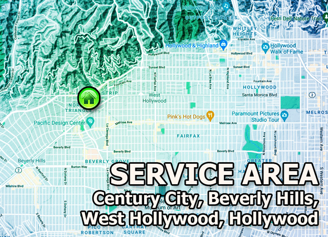 west hollywood computer repair service area
