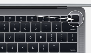 mac power button hidden